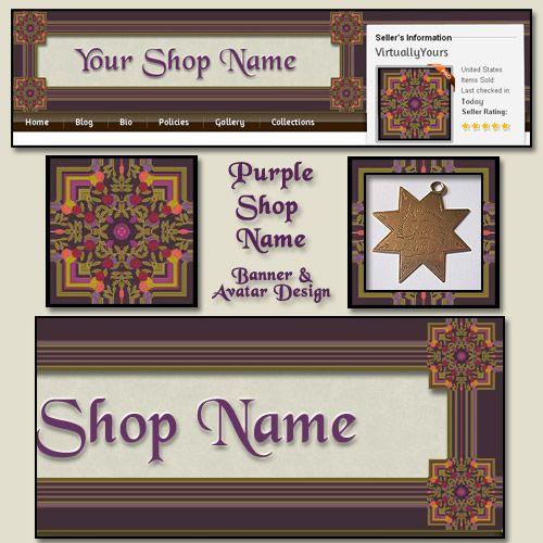 Purple Border Banner and Avatar Design | VirtuallyYours - Graphics on ArtFire