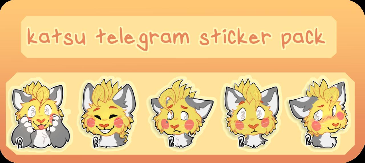katsu telegram sticker pack by pinuh | stickers | Telegram