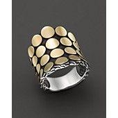 John Hardy Dot Gold & Silver Saddle Ring