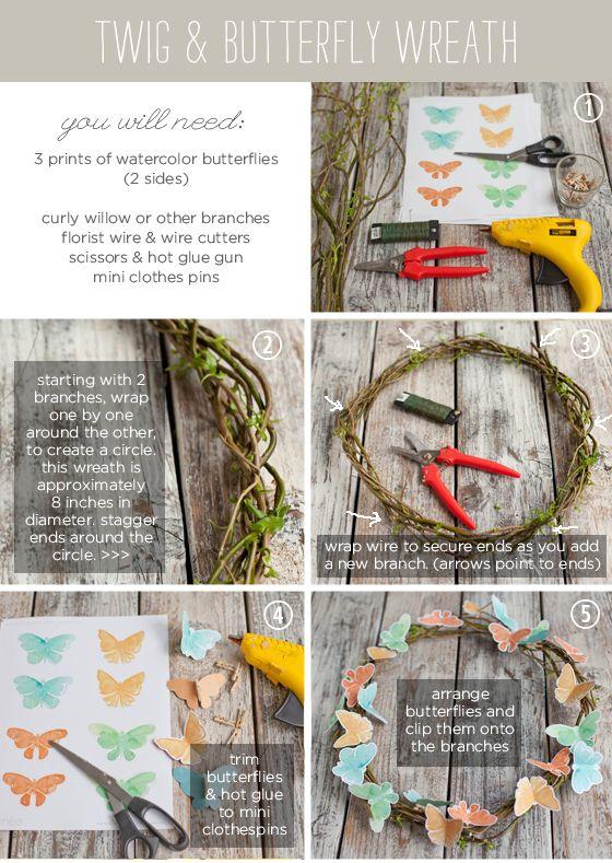 Photo of Creare un ramoscello e una ghirlanda di farfalle – perfetto per Pasqua o in estate e con un …
