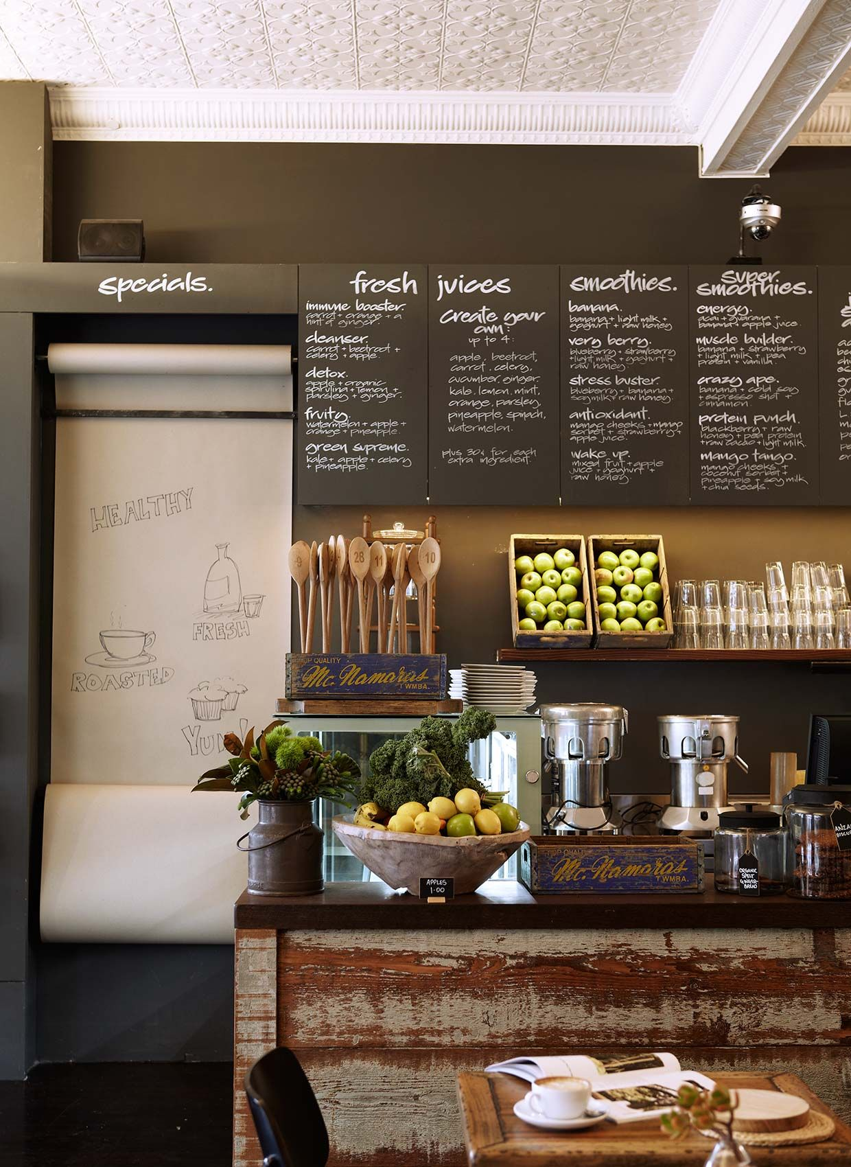 Bloom cafe commercial interior design by hare klein