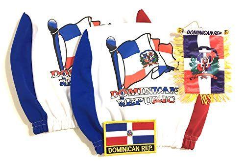 PRK 14 Dominican Republic Flags for Cars headrest one Siz… www.amazon.com/…