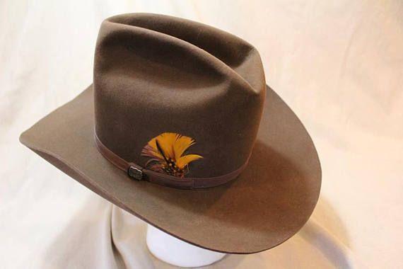 6cef2102b3a7b Vintage Resistol High Sierra Cowboy 3X Beaver Fur Felt Sorrel Brown Western  Hat 7 1 8 (57 cm) Self Conforming