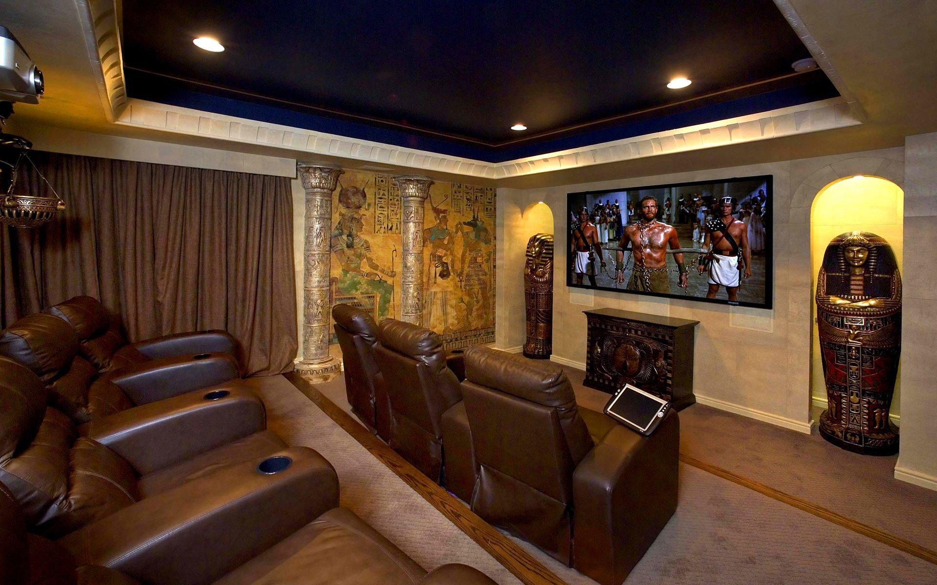 egyptian living room cave home dreams home home theater 10791