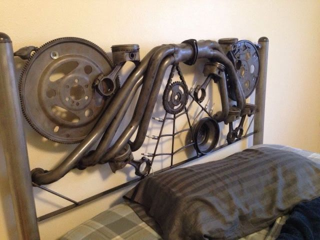Custom Steampunk Bed Headboard