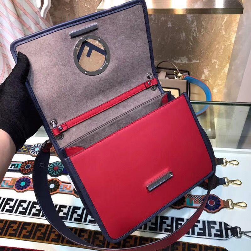 baae85d6d0 FENDI Kan I Logo Red Leather Bag 8BT284A3ROF13X7  redleatherbag ...