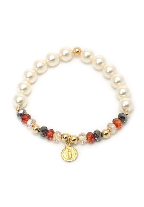 e1b6d3008bd3 pulseras de perlas de colores de cristal - Buscar con Google ...