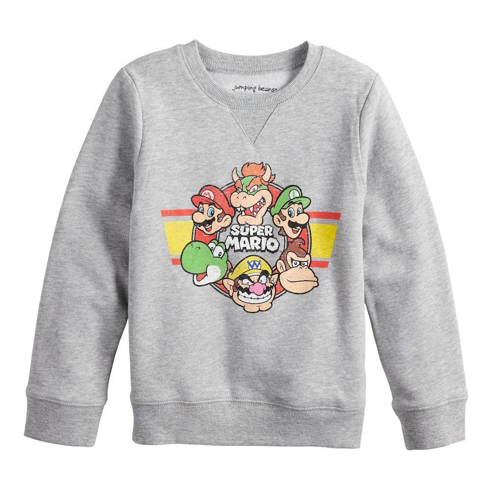 Boys Jumping Beans Retro Super Mario Bros Softest Fleece