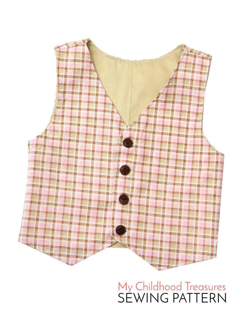 Boys Vest Pattern Interesting Design