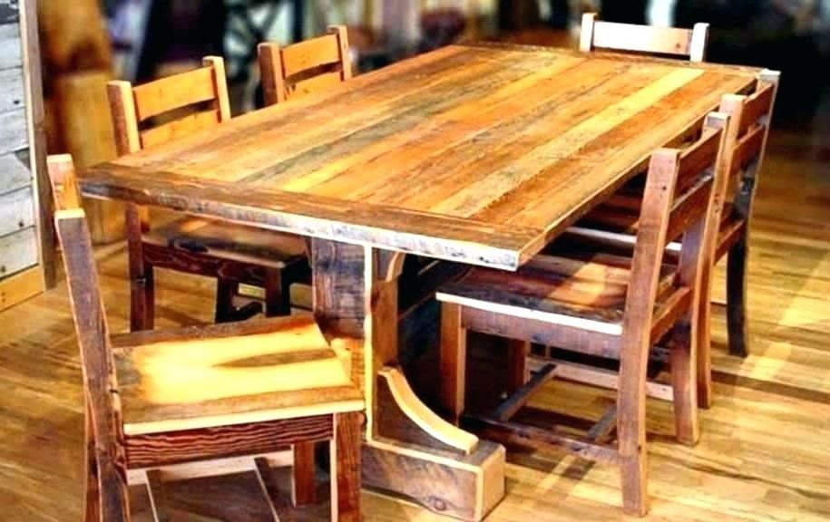 41++ Reclaimed wood dining table and chairs Inspiration