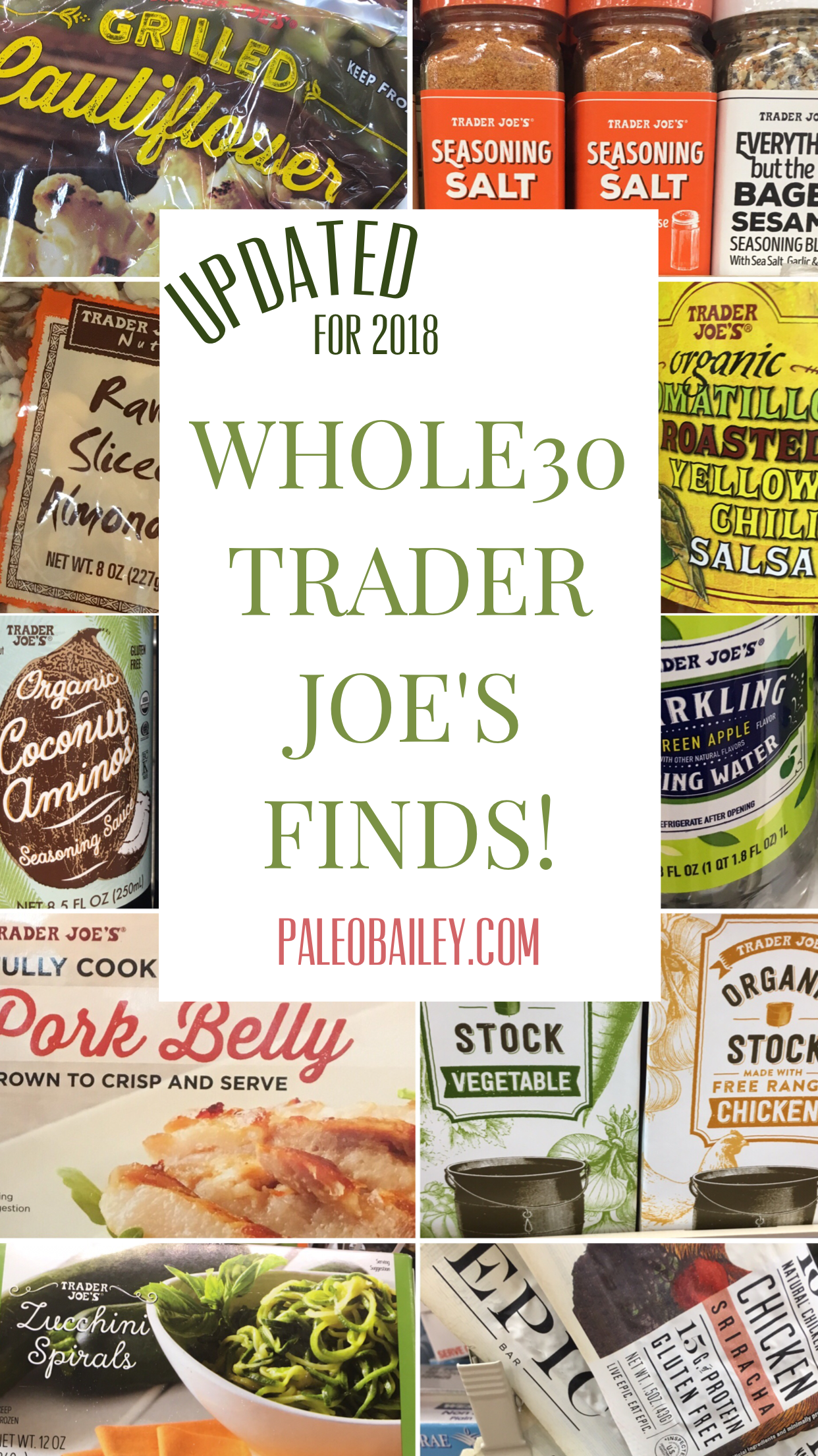 Whole30 Trader Joe\'s Finds: 2018 Shopping List | Whole 30 ...