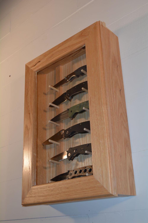 Custom made knife display case knife display case