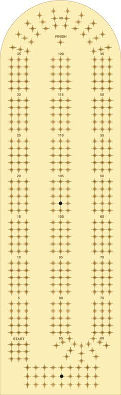 Peaceful image with printable cribbage board template
