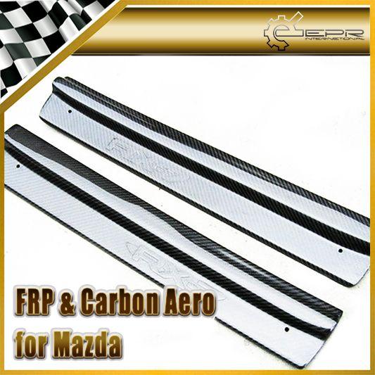 Car Styling For Mazda Rx7 Fd3s Carbon Fiber Door Sill Plain Glossy Fibre Side Panel Accessories Fiber Siding Mazda Rx7 Mazda