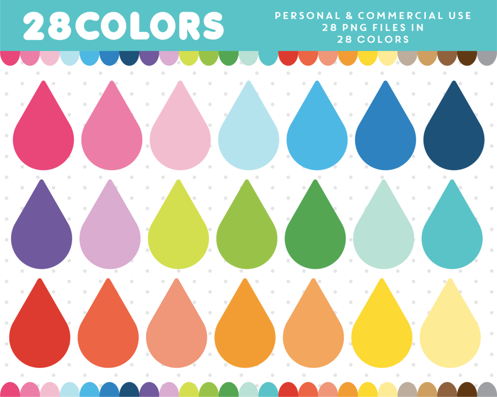 water drop clipart in 28 colors cl 334 [ 1024 x 819 Pixel ]
