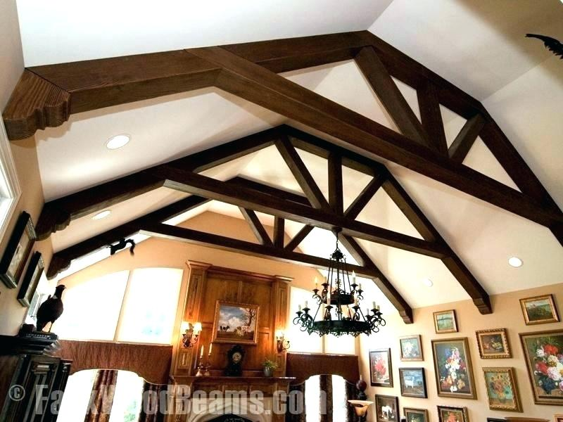 Add Beams To Vaulted Ceiling Vaulted Ceiling Beams Adding Wood