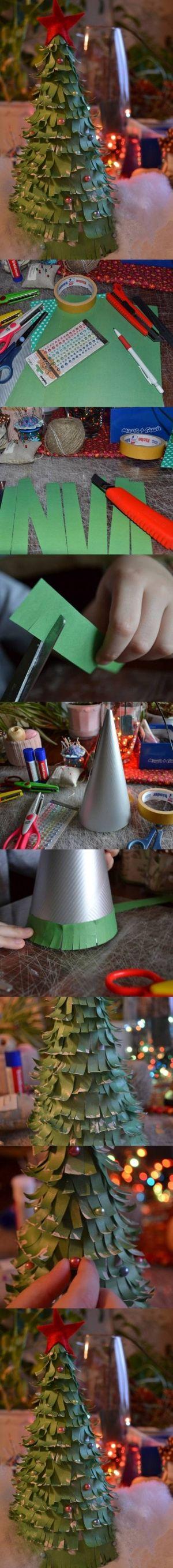 DIY Strips of Papers Christmas Tree DIY Strips of Papers Christmas Tree by diyforever