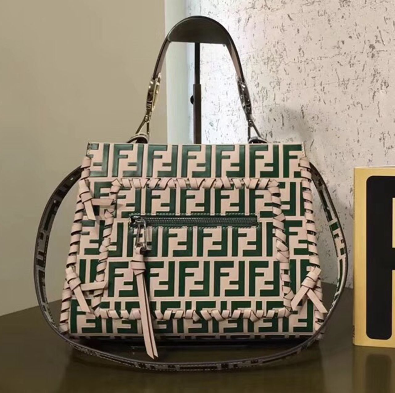 3f9b4178d0782 Fendi Runaway F Small Bag With Exotic Details And Bow Green 2018 ...