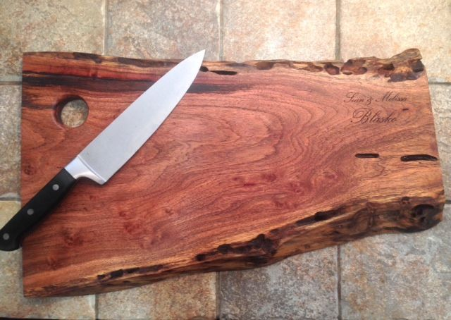 sweetlooking unique cutting boards. Live Edge Mesquite Cutting Board  Free Engraving Hunter Wagner Designs