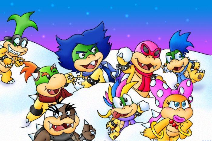 Super Mario World Christmas.Christmas Koopalings By Sam64 Super Mario Mario Bros
