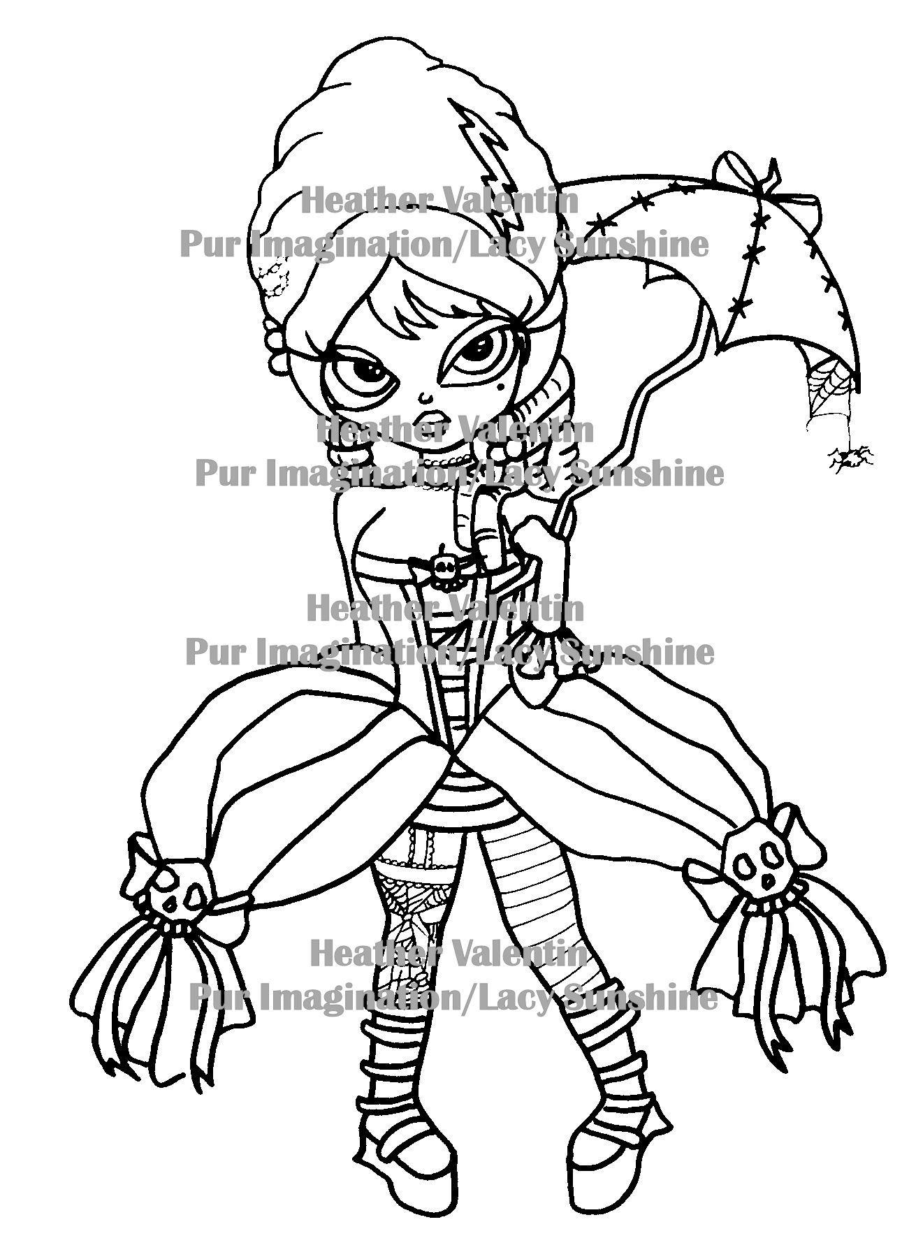 Bride of Frankenstein Susie Digi Stamp by Heather Valentin from my ...