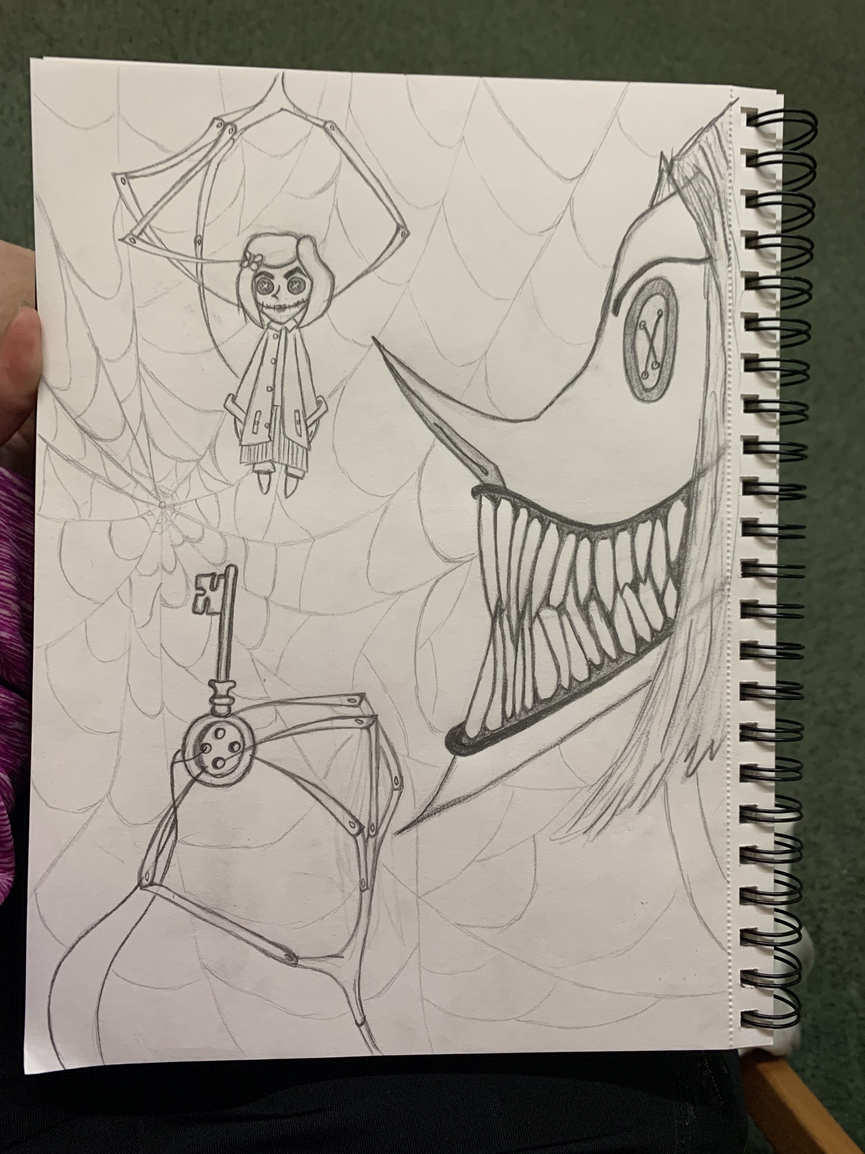 Coraline The Other Mother Coraline Drawing Coraline Art Simple Canvas Paintings