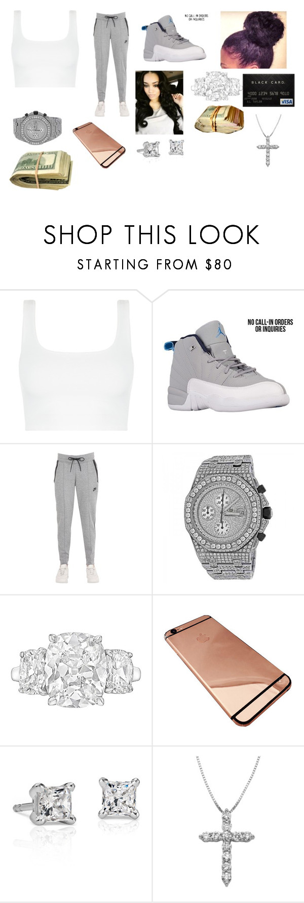 """Slight but getting ready for Kansas"" by foreverrcourtney ❤ liked on Polyvore featuring NIKE, Audemars Piguet and Blue Nile"
