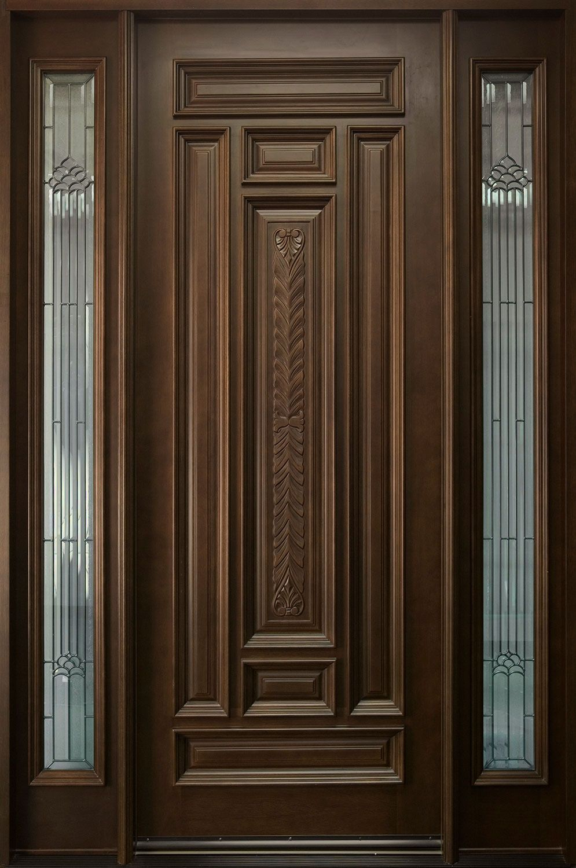 front single door designs in kerala style | Exterior Door ...