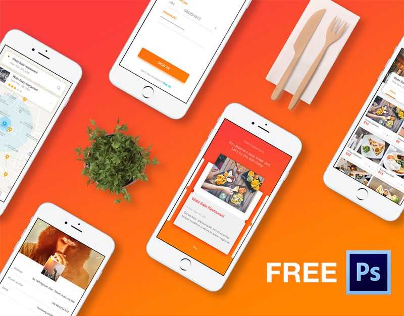 free cook mobile app psd template 1 dribbble graphics mobile app