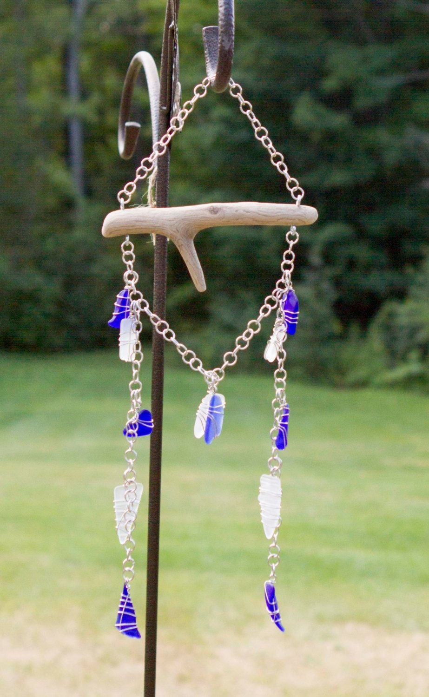 Sea Glass Sun Catcher, Sea Glass Wind Chime, Beach Glass, Garden ...
