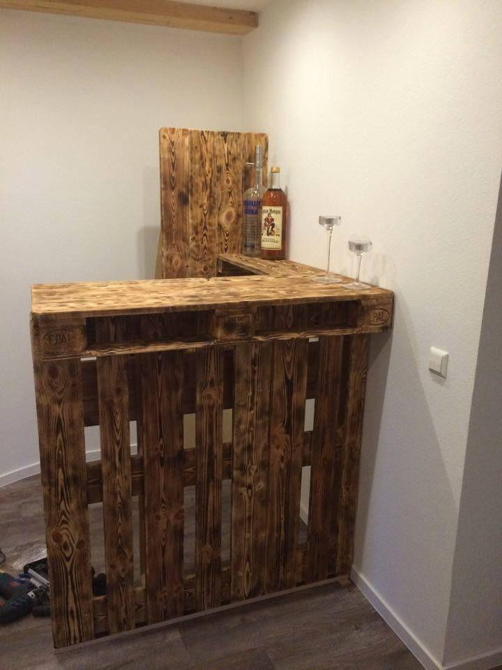 Diy Corner Bar From Wooden Crates Decoracao Com Caixote