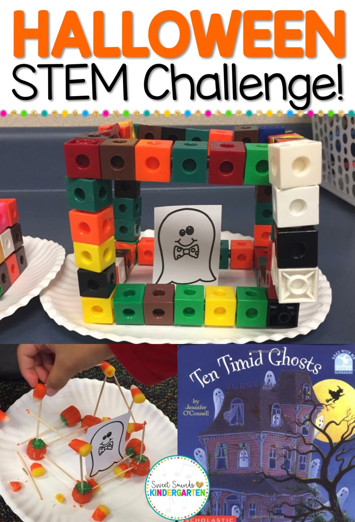 Halloween Stem Freebie Stem Freebie Halloween Activities Ten Timid Ghosts