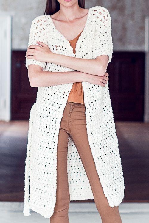 Häkel-Cardigan - Initiative Handarbeit | Häkeln | Pinterest | Mode ...