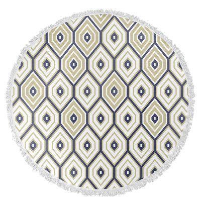 Kavka Honeycomb Round Beach Towel