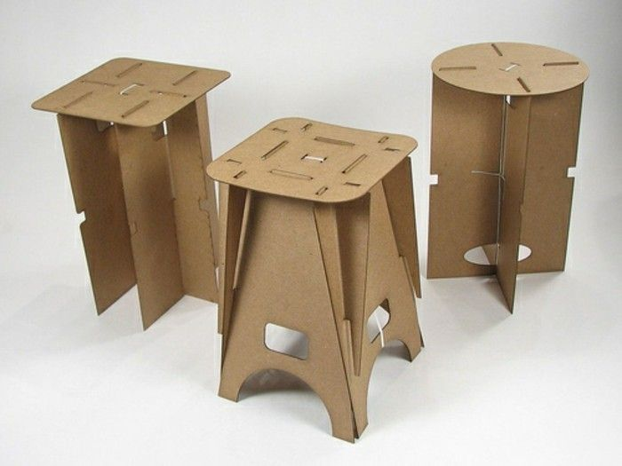 Connu Meuble en carton - 60 idées que vous pouvez réaliser vous-mêmes  DZ74