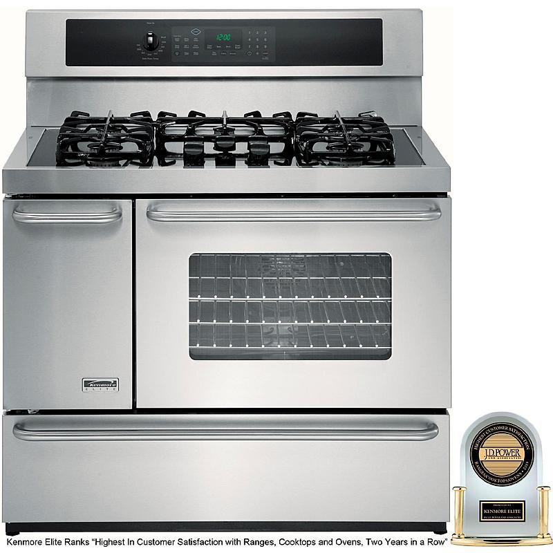 Kenmore Elite 75603 40 Double Oven Dual Fuel Range W Convection Double Oven Dual Fuel Ranges Kenmore Elite