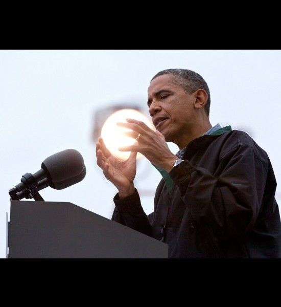 Funny photos, perfectly timed photos, Obama holding sun