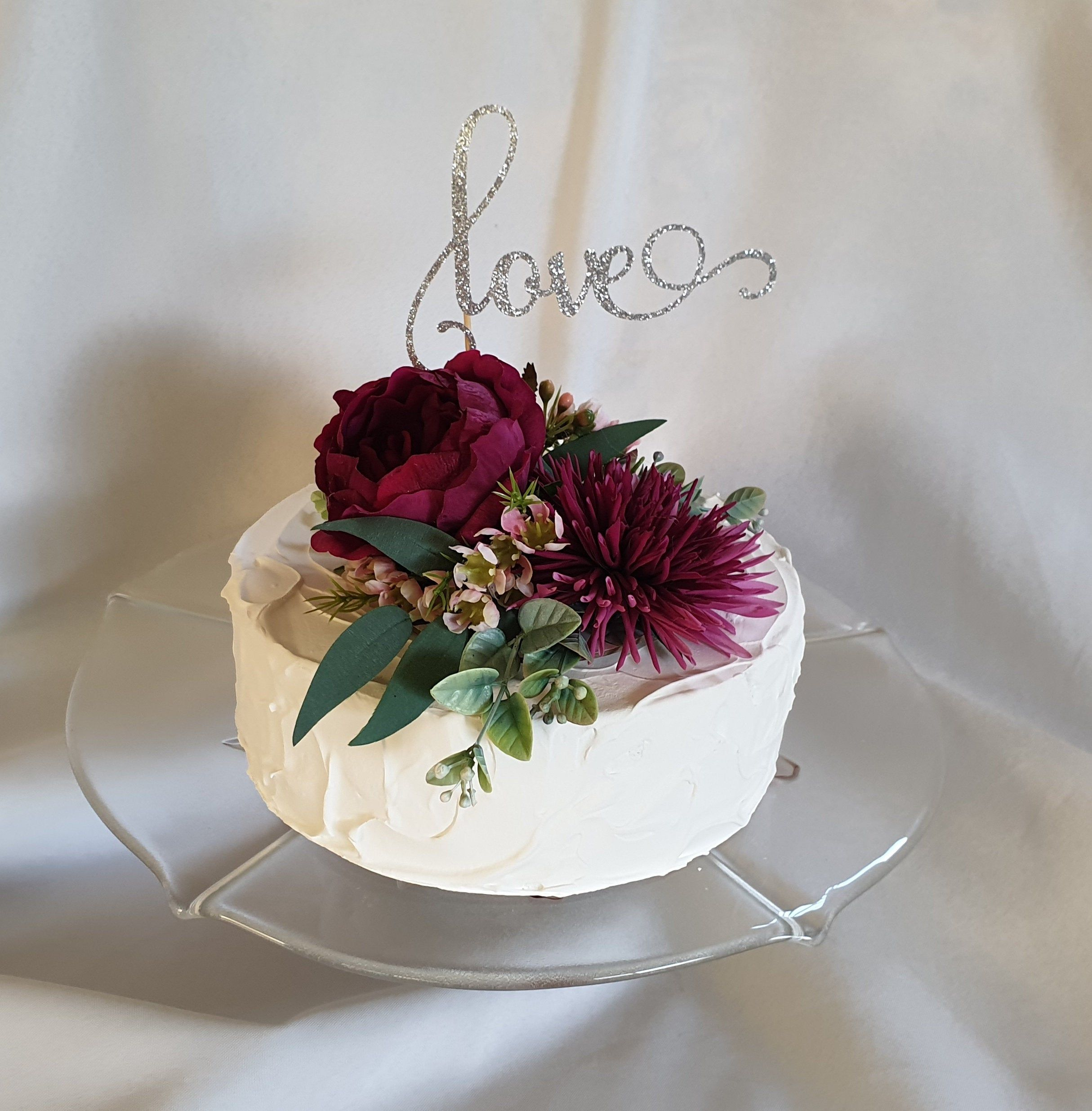 Cake Topper Real Touch Artificial Fake Flower David Austin Rose Cake Toppers Flower Cake Toppers Tropical Cake Topper