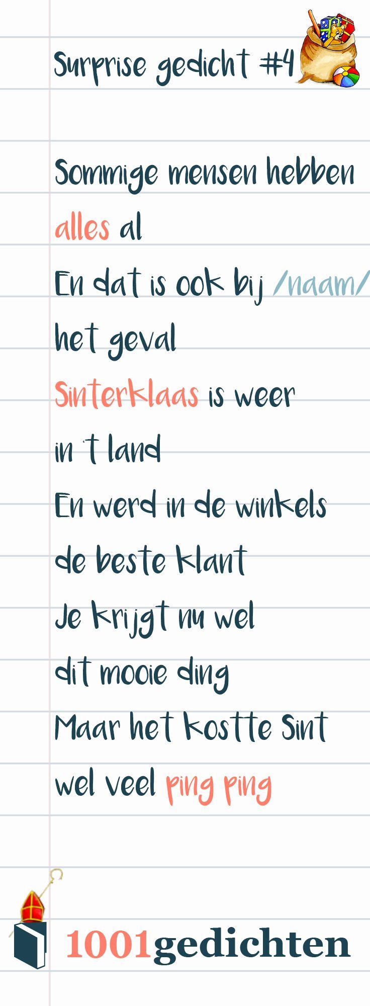 Rijmpjes Sinterklaas Gedichten Maken Archidev