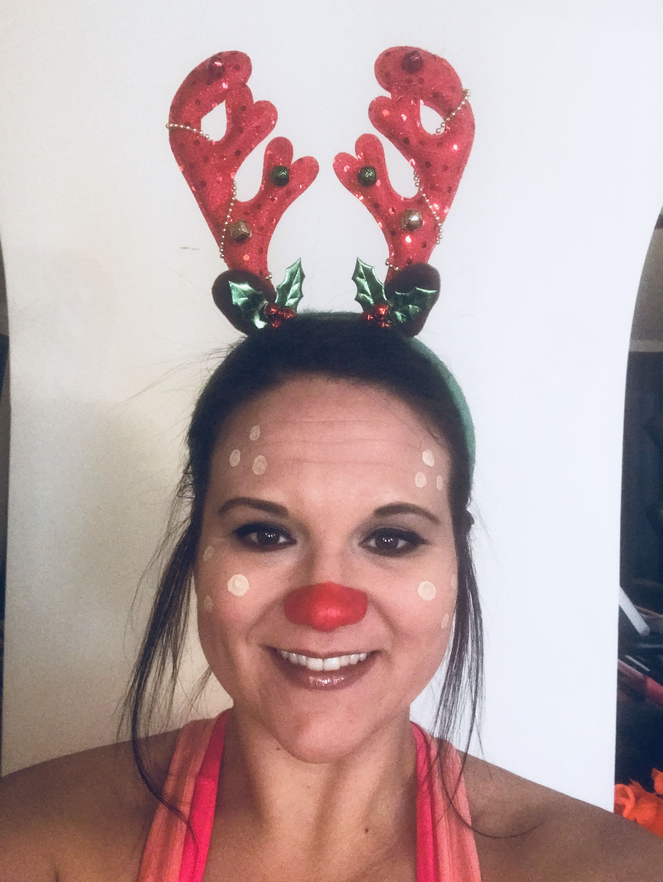 Rudolph red nosed reindeer Christmas makeup! Rudolph red