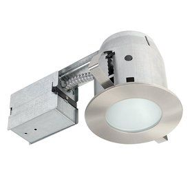 Globe Electric Brushed Nickel Remodel And New Construction Recessed Light Kit Fits Opening 4 In 90664