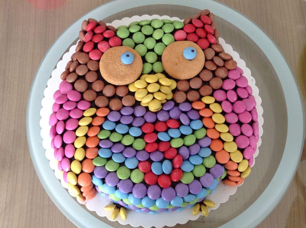 Eulentorte Aus Smarties Geburtstag Kuchen Madchen Eulentorte