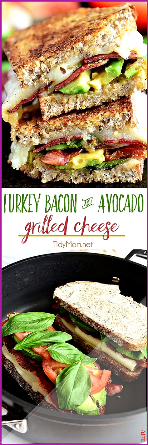 Turkey Bacon and Avocado Grilled Cheese Sandwich Turkey Bacon and Avocado Grilled Cheese Sandwich H