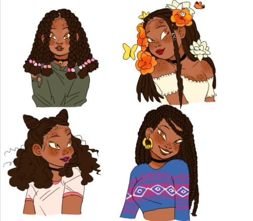 Curlyhairswag Black Girl Magic Art Natural Hair Art Black Girl Art