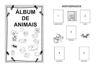 Janelinha De Atividades Album De Animais Para Imprimir E