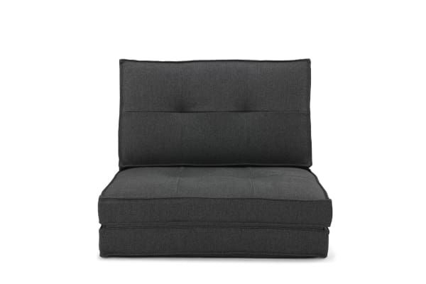 Surprising Ovela 2 In 1 Lounge Chair And Futon Charcoal Sofas Beatyapartments Chair Design Images Beatyapartmentscom