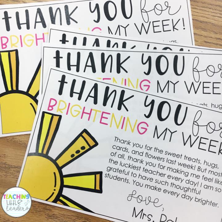 Teacher Appreciation Thank You Notes Freebie | Parent-Teacher