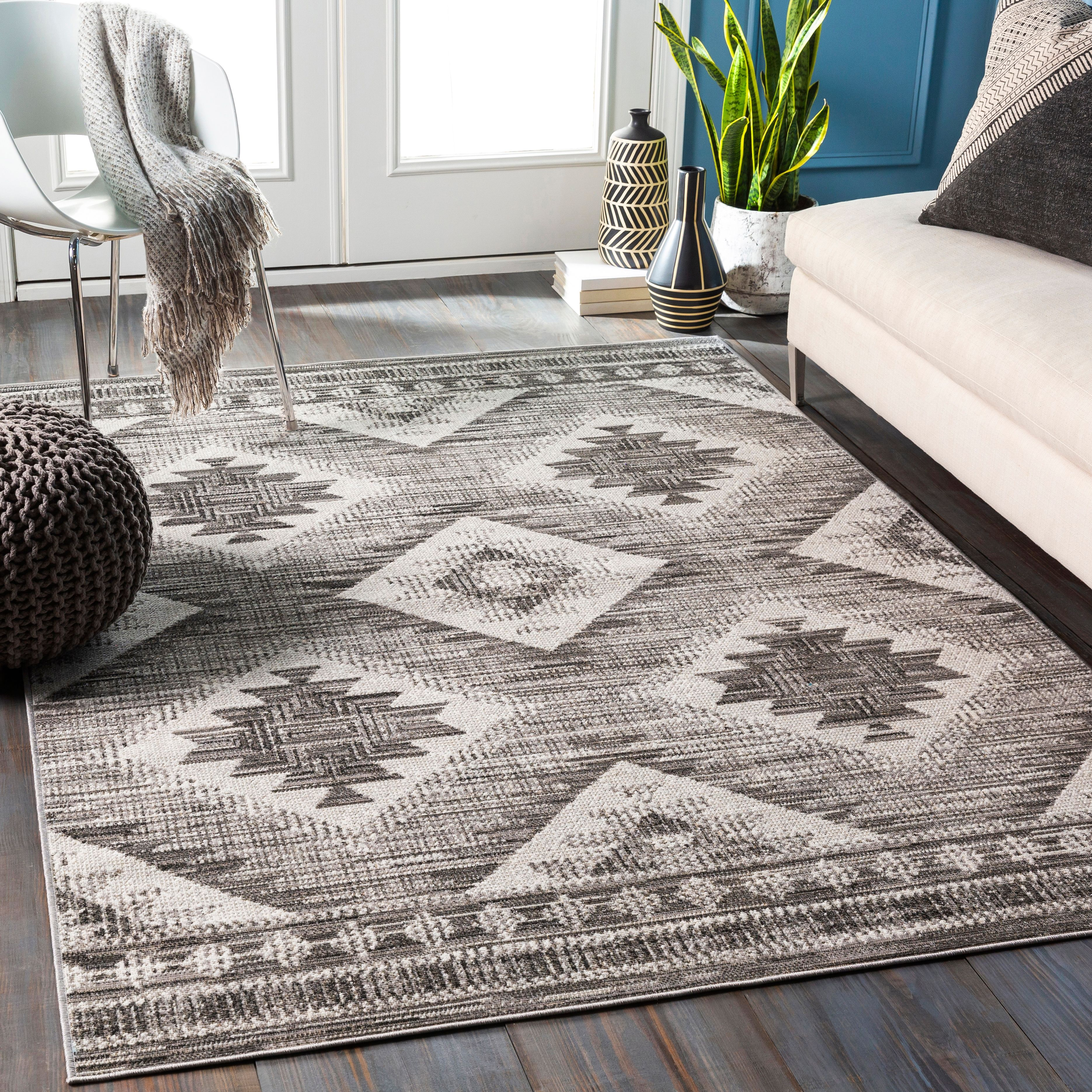 Traditional 5 3 X 7 7 Area Rug Ashley Furniture Homestore Black Area Rugs Geometric Area Rug Area Rugs 5 by 7 area rugs