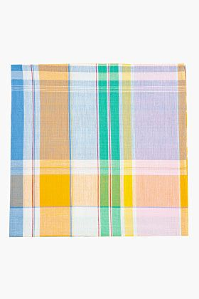 THOM BROWNE Multicolor madras check pocket square