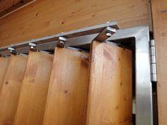 volet persienne verticale mobile en bois pour baie vitr e plus volets pinterest madera. Black Bedroom Furniture Sets. Home Design Ideas